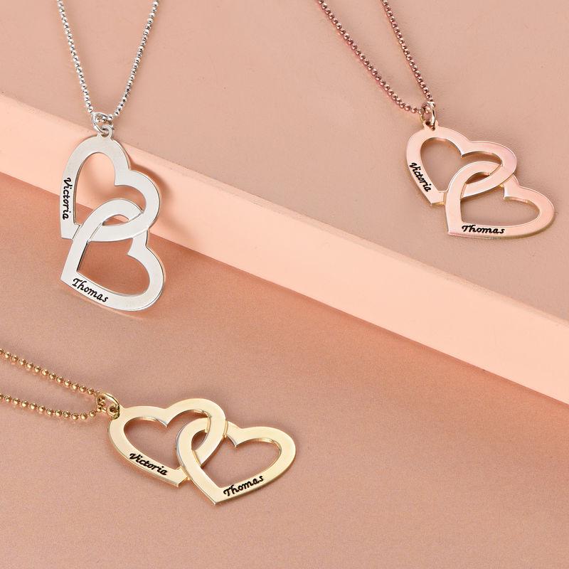 Romantische 925er Silber Herzkette - 1