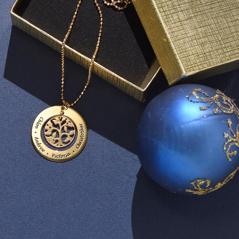 Vergoldete Familien Stammbaum Halskette - 2
