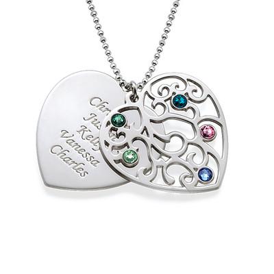 Filigrane Herz Stammbaum Halskette