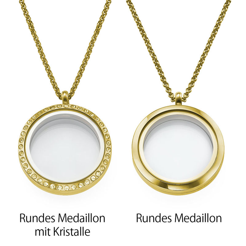 Vergoldetes Charm Medaillon für Mütter oder Großmütter - 2