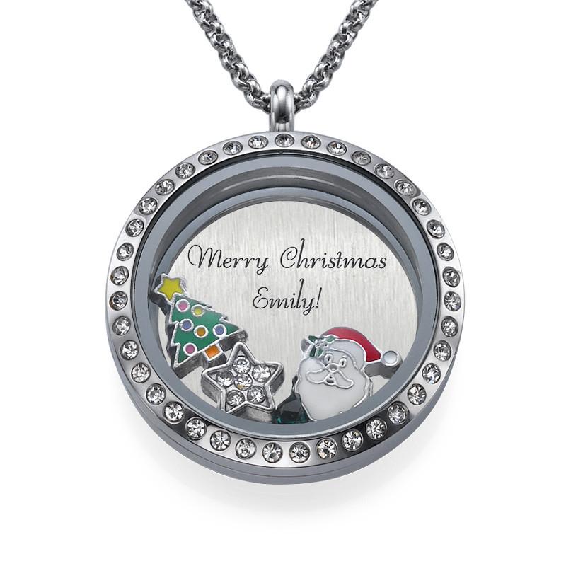 Charm Medaillon - Frohe Weihnachten