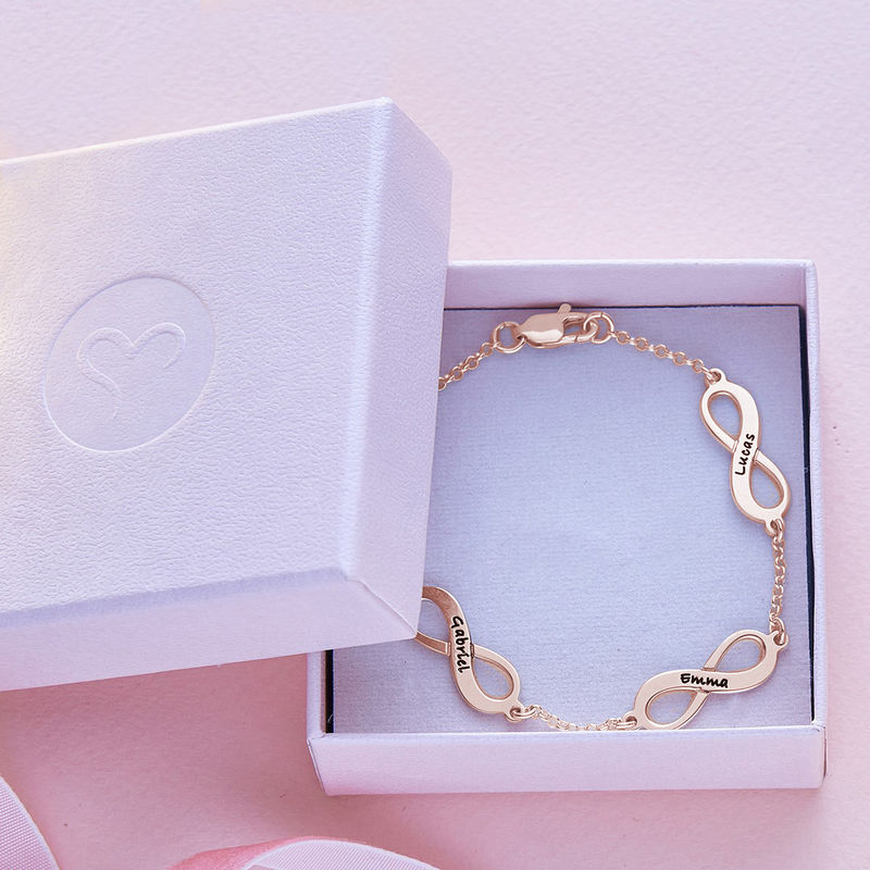 Multiples Infinity-Armband mit Rosévergoldung - 5