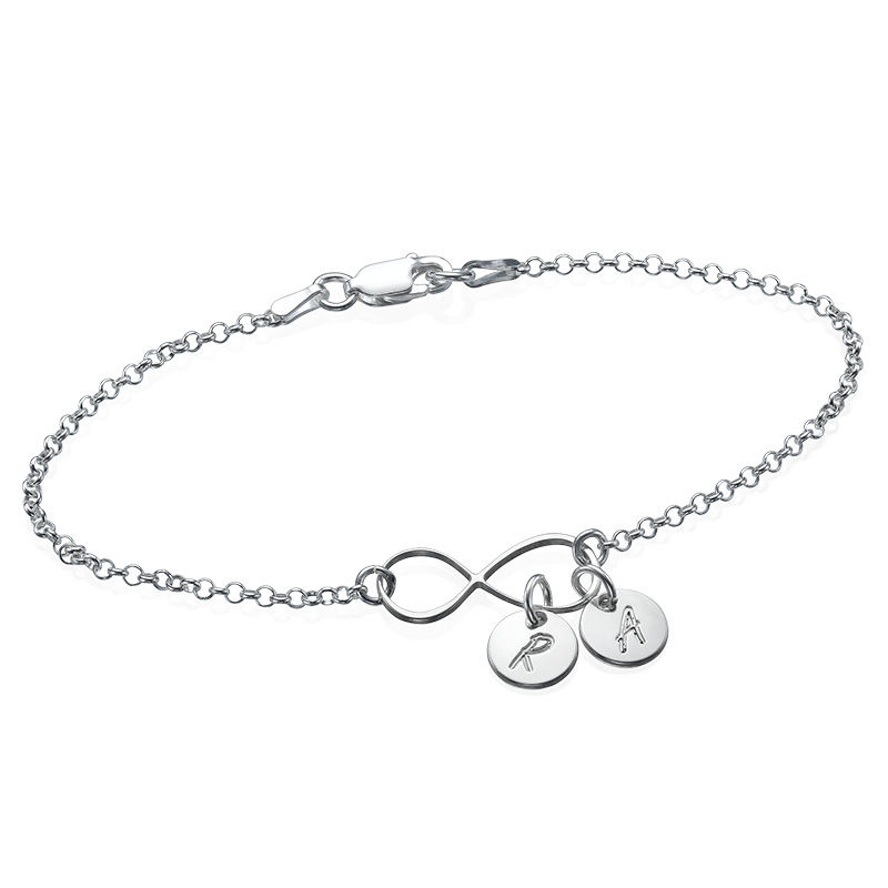 Infinity-Armband / Fußkette mit Initialen-Charms