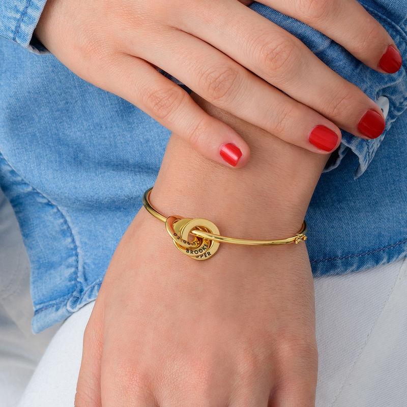 Vergoldeter Armreif mit russischen Ringen - 2