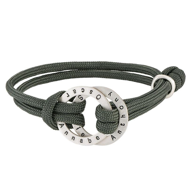 Paracord-Herren-Armband mit gravierten Ringen