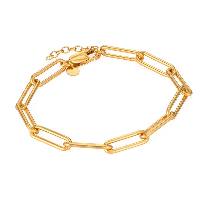 Chain Link Armband mit Gold-Vermeil