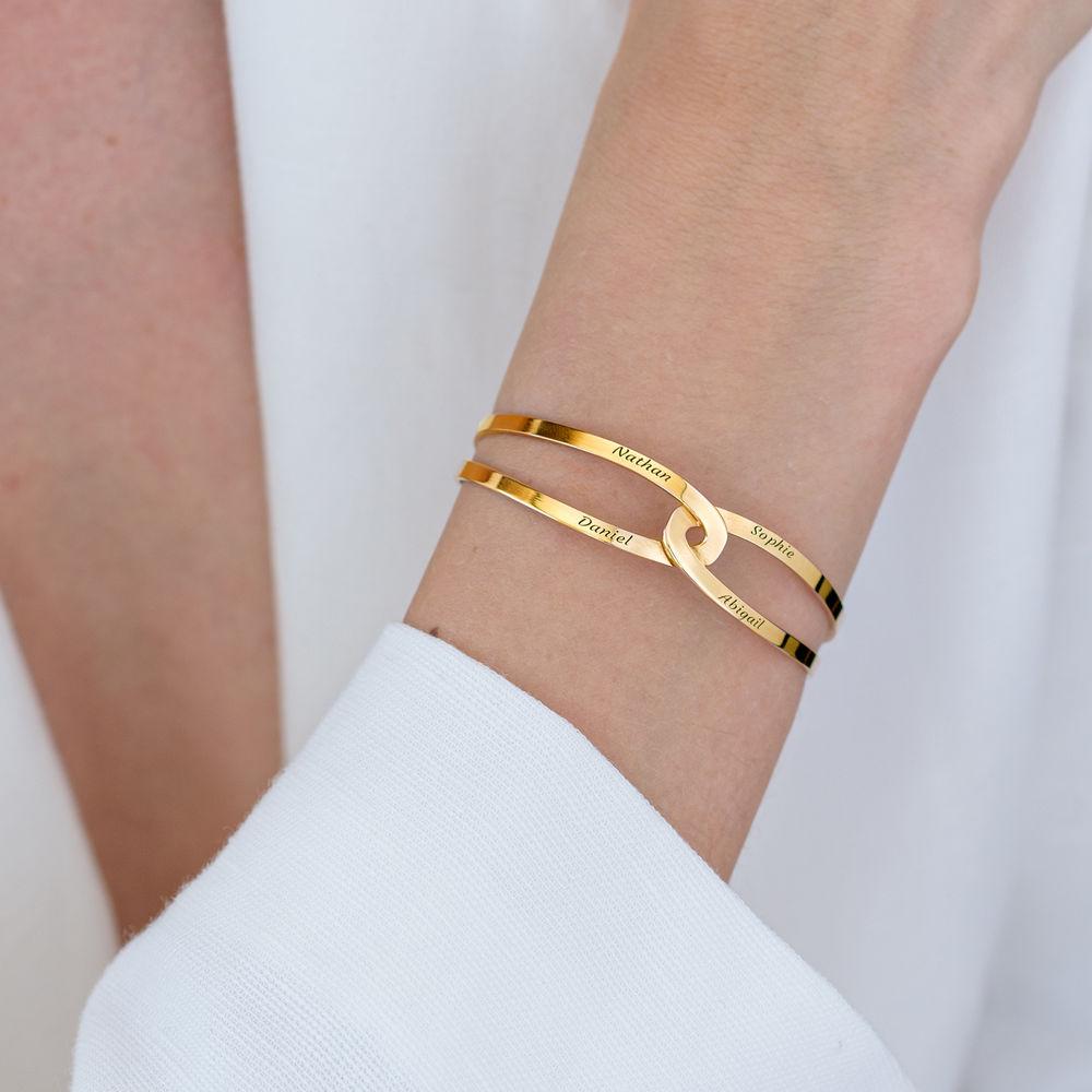 Hand in Hand - personalisierter Armreif aus 750er Gold-Vermeil - 5
