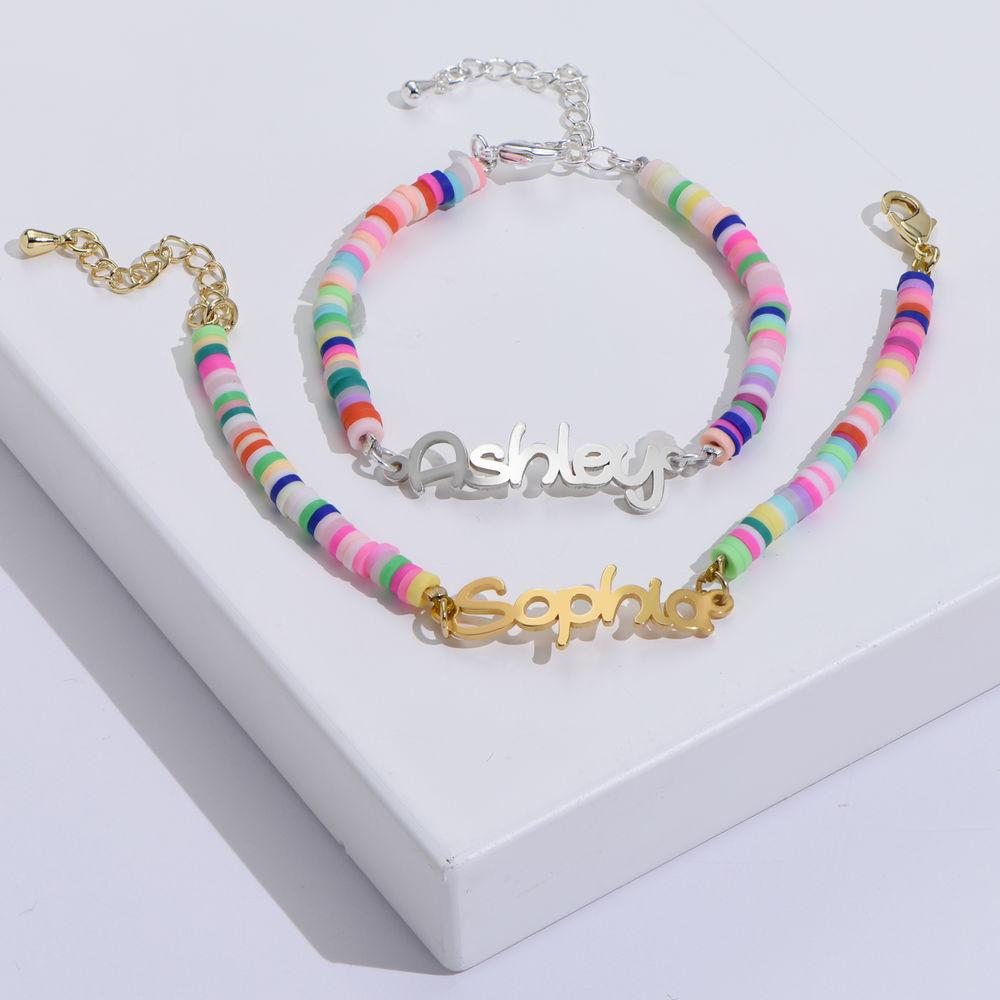 Regenbogenarmband aus Sterling Silber für Mädchen - 1