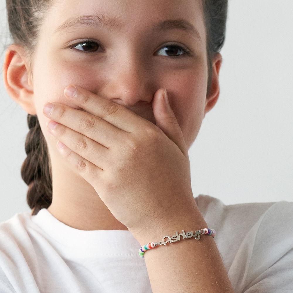 Regenbogenarmband aus Sterling Silber für Mädchen - 3