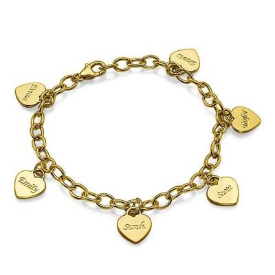 Gravierbares Armband mit Herz Anhänger