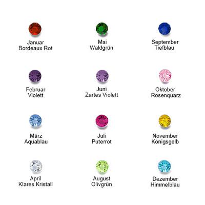 Personalisierbarer Geburtsstein-Ring aus Silber - 3