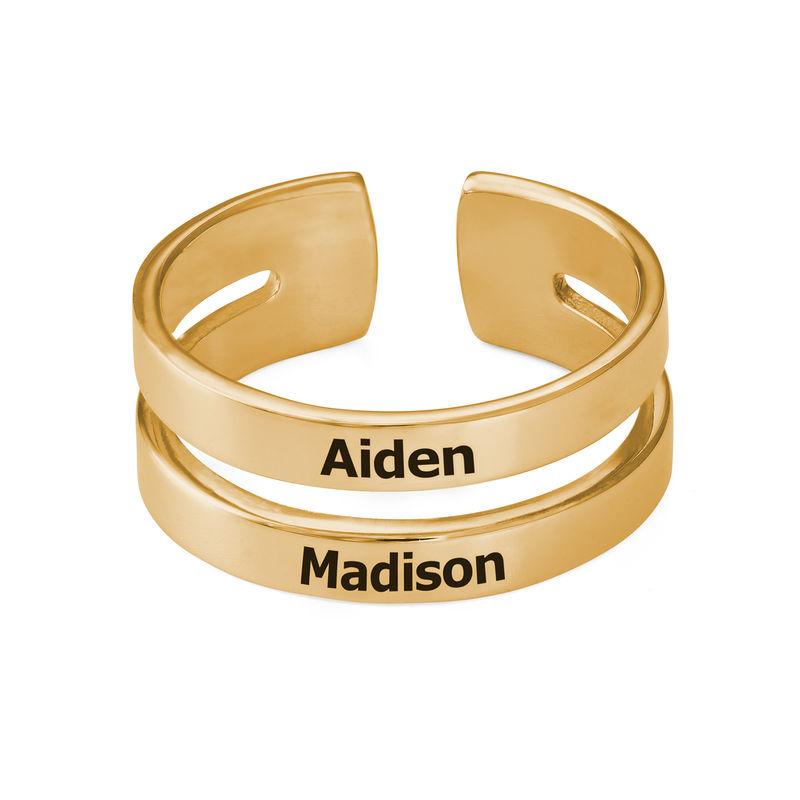 Ring mit Namen - mit 750er Vergoldung - 1