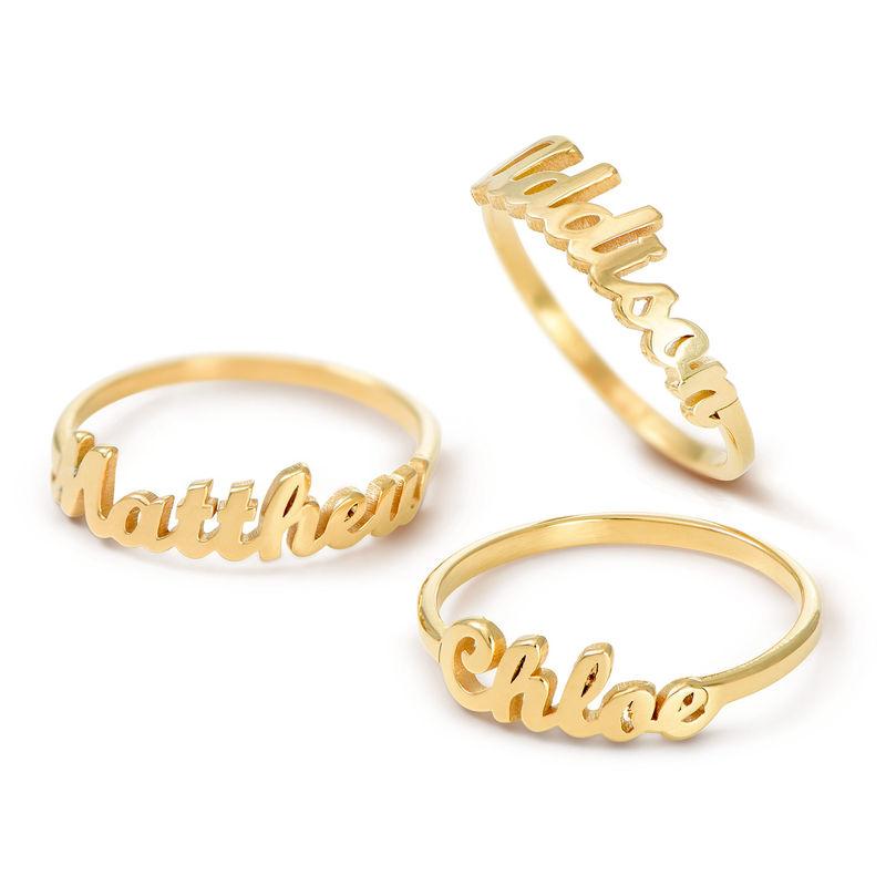 Namensring aus Goldbeschichtung - 2