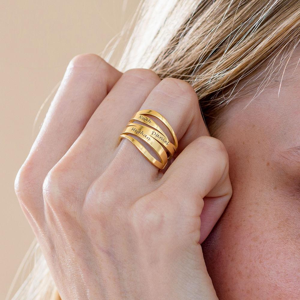 Margeaux Ring mit Namen - mit 750er Vergoldung - 4