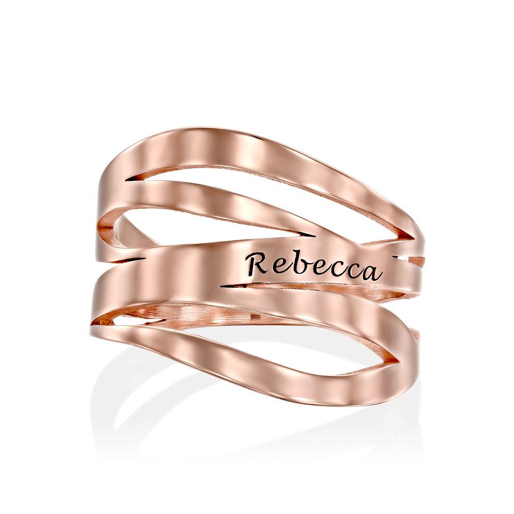 Margeaux Ring mit Namen - mit 750er Rosévergoldung - 1