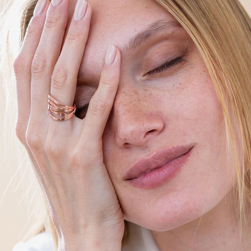 Margeaux Ring mit Namen - mit 750er Rosévergoldung - 3