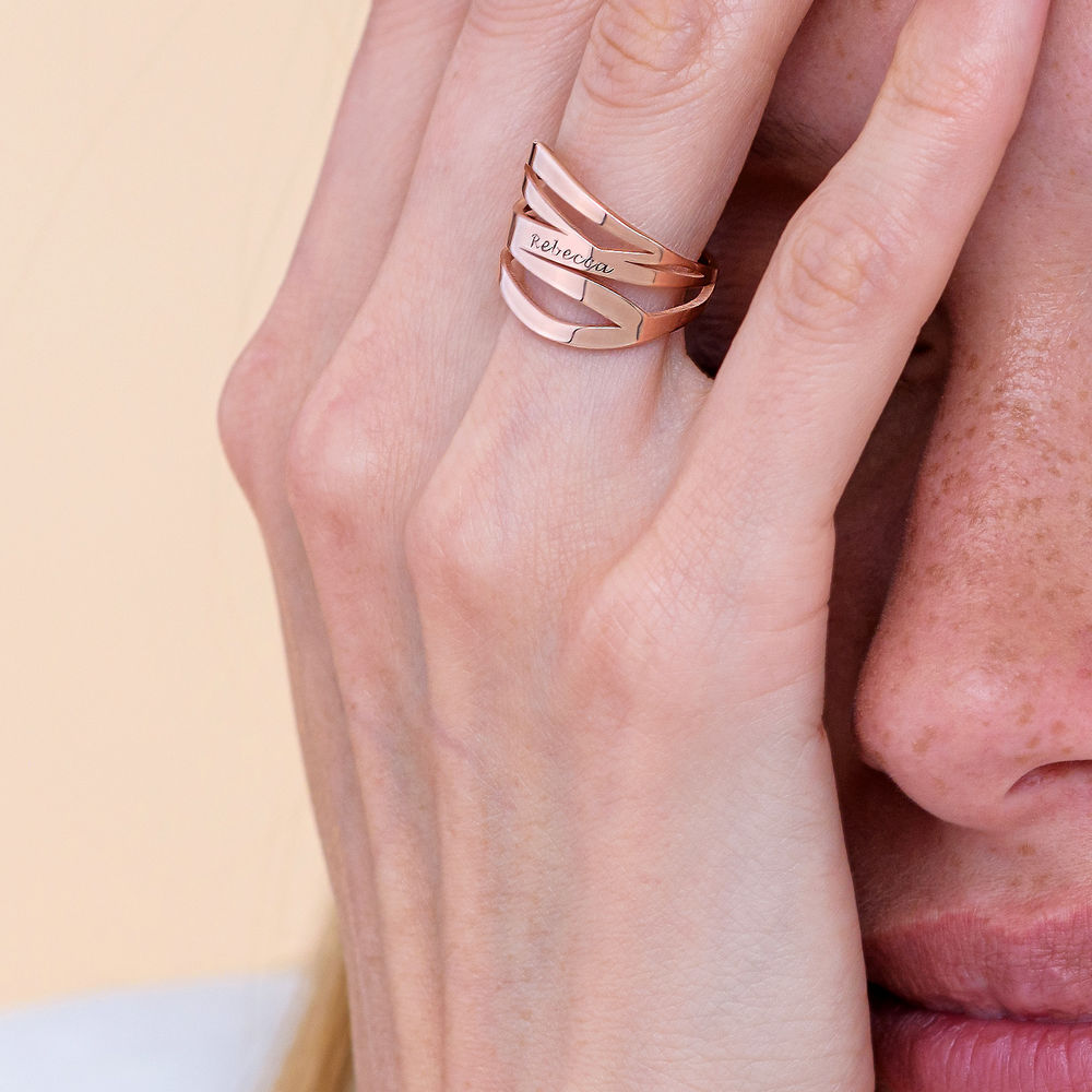 Margeaux Ring mit Namen - mit 750er Rosévergoldung - 4