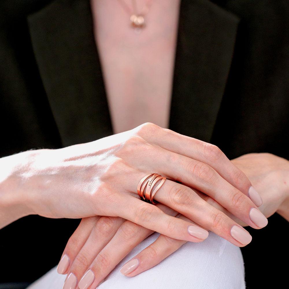 Margeaux Ring mit Namen - mit 750er Rosévergoldung - 5