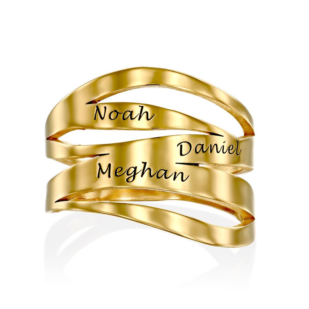 Margeaux Namensring mit  Namen in Gold-Vermeil - 1