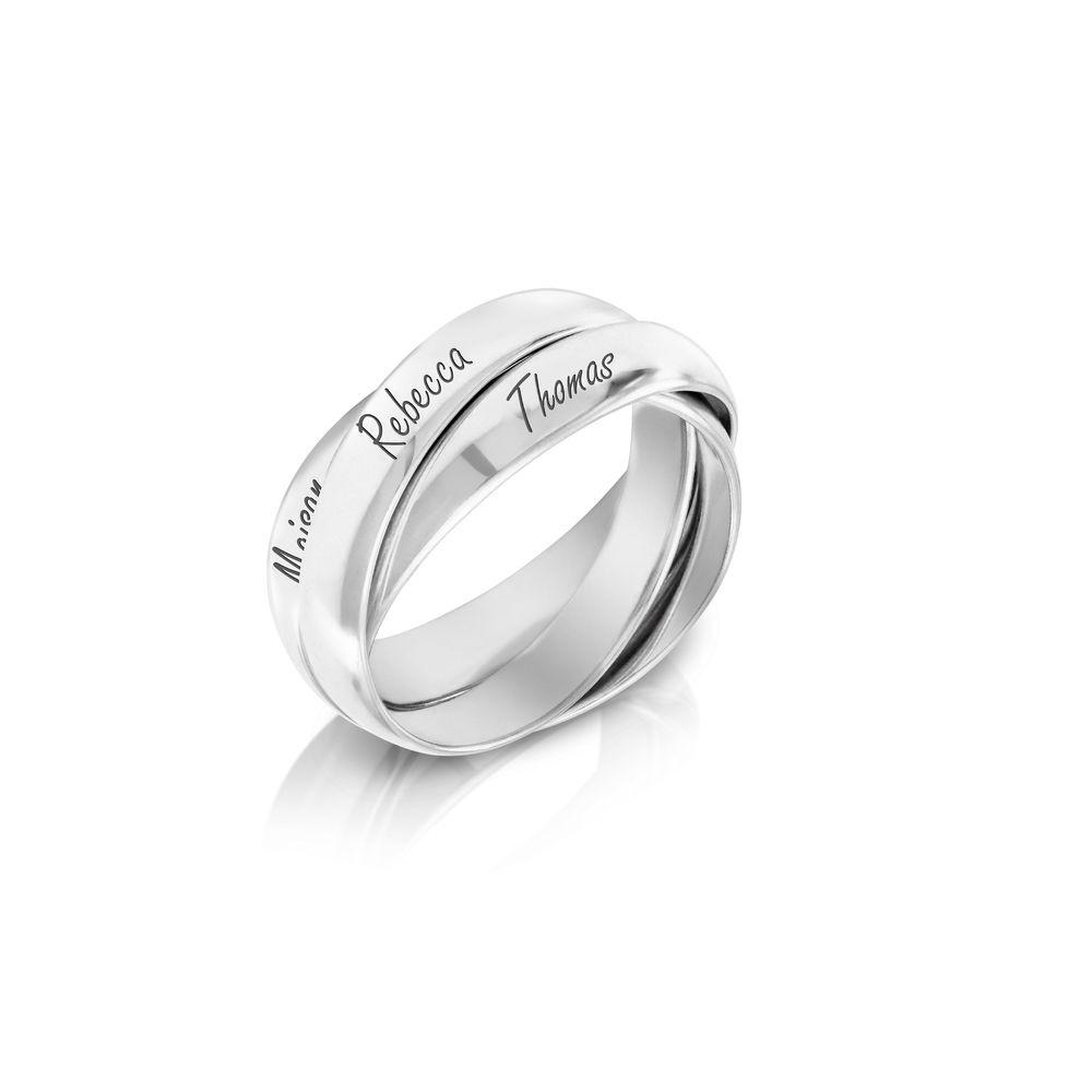 Charlize Russischer Ring aus 925er Sterling Silber - 1