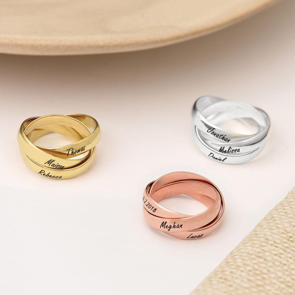 Charlize Russischer Ring aus Rosévergoldetes 925er Sterling Silber - 2
