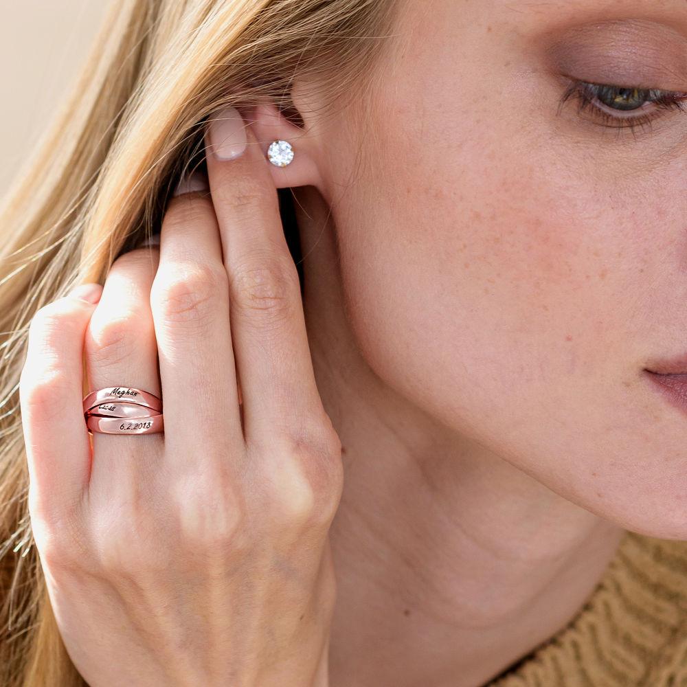 Charlize Russischer Ring aus Rosévergoldetes 925er Sterling Silber - 3