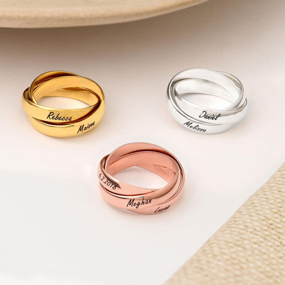 Charlize Russischer Ring aus 750er Gold-Vermeil - 2