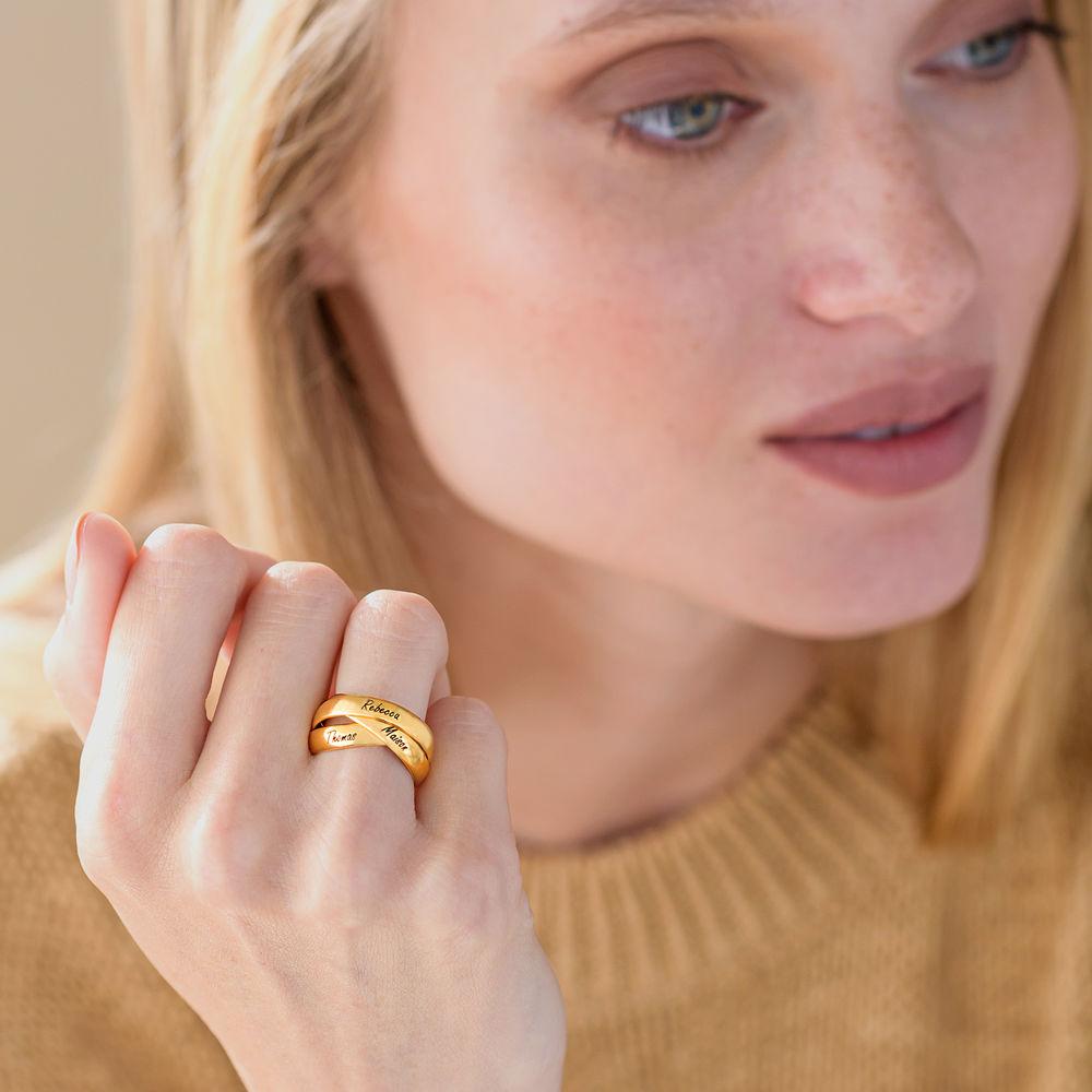 Charlize Russischer Ring aus 750er Gold-Vermeil - 3