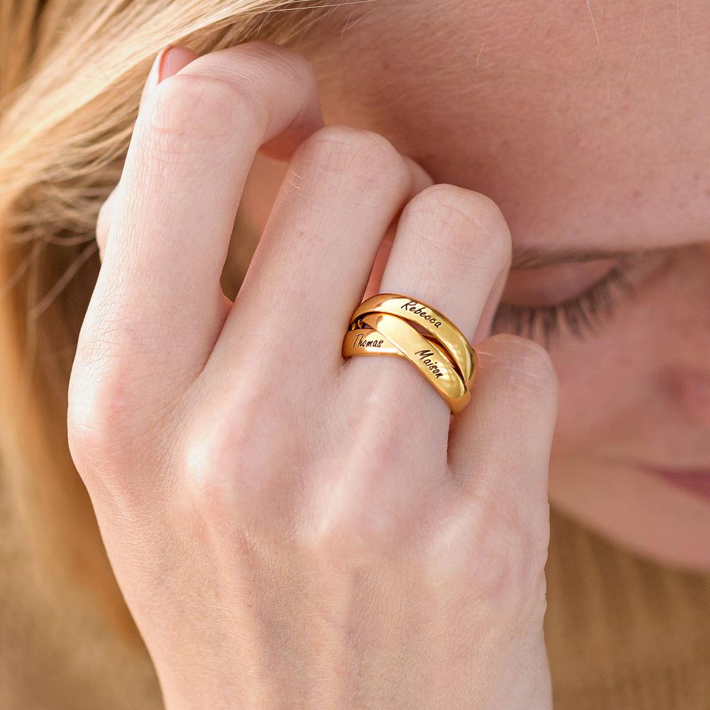 Charlize Russischer Ring aus 750er Gold-Vermeil - 4
