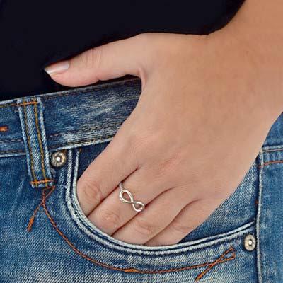 925er Silber Infinity-Unendlich Ring - 2