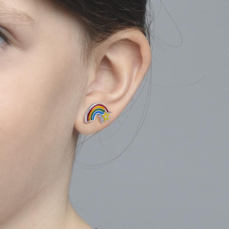 Regenbogen Ohrringe für Kinder - 1