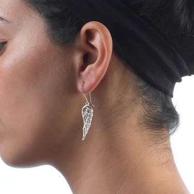 Engelsflügel Ohrringe in Silber - 1