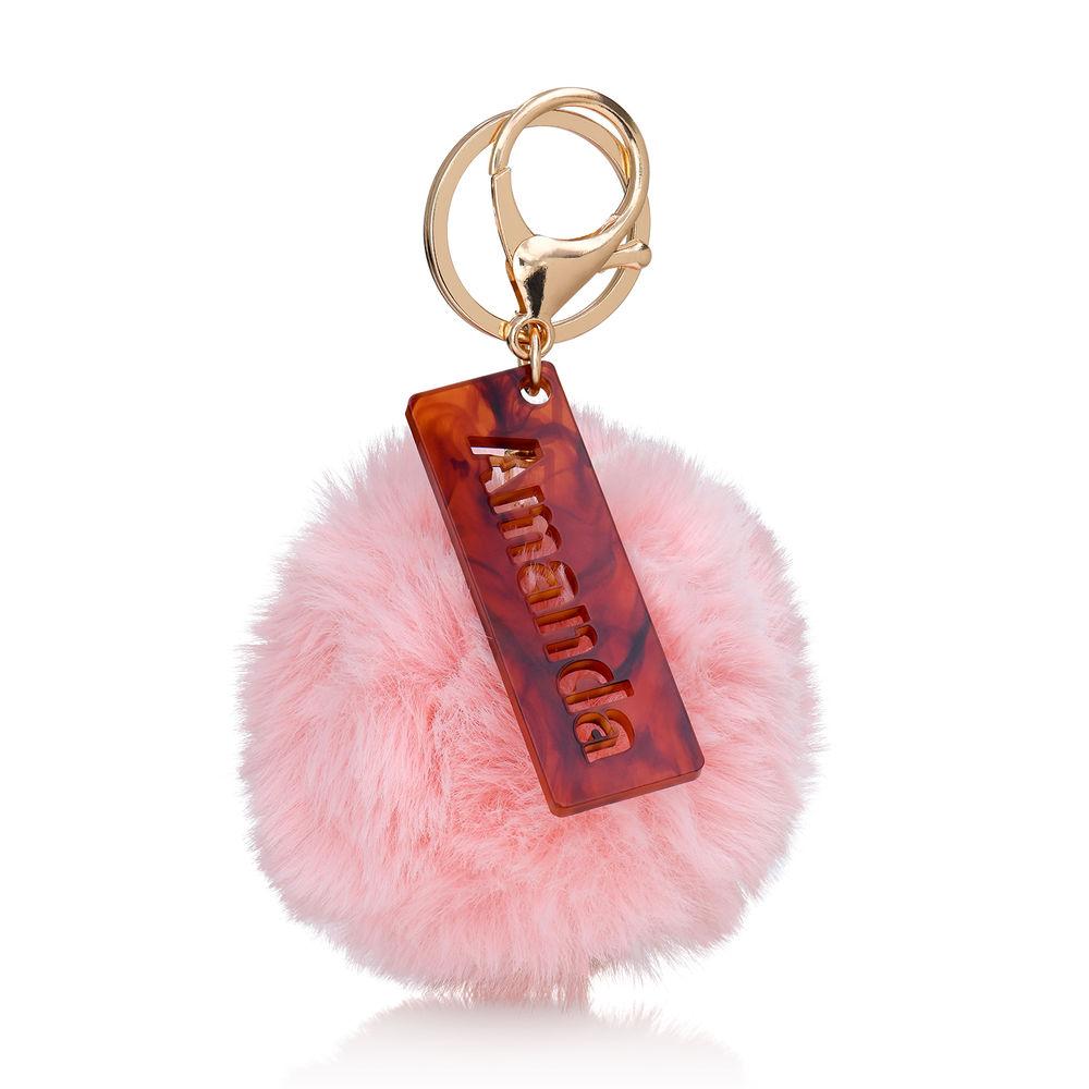 Personalisierter Pompon & Handtaschenanhänger - 2