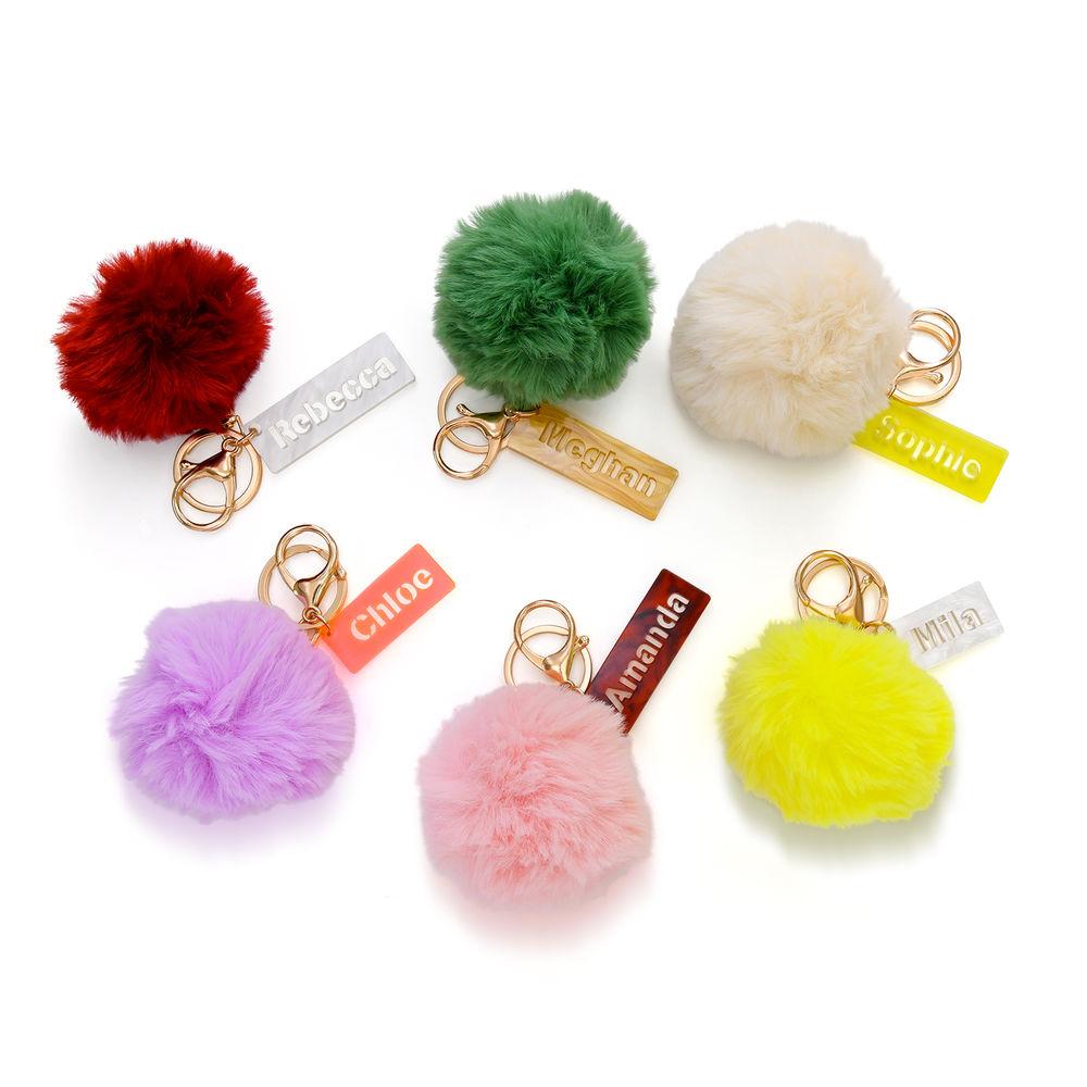 Personalisierter Pompon & Handtaschenanhänger - 3