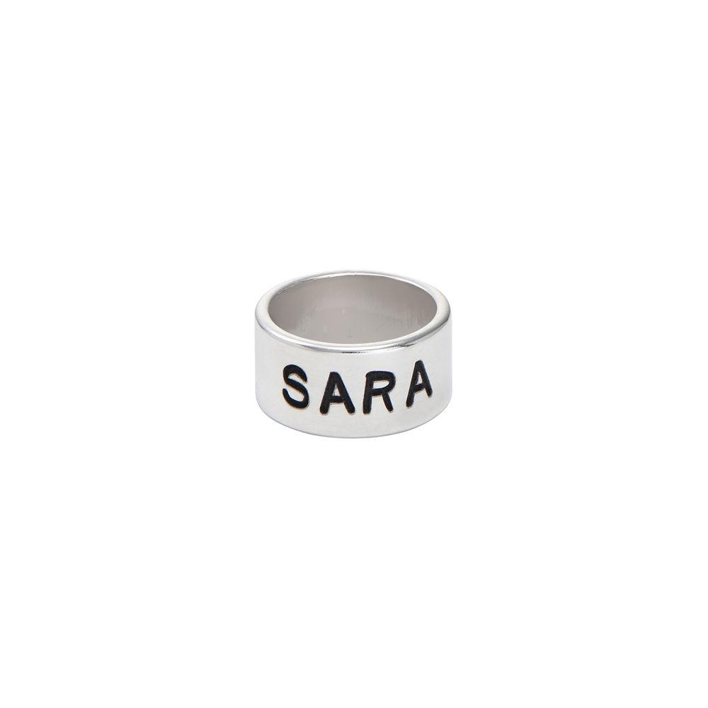 Personalisiertes Bead aus Silber für Lederarmband