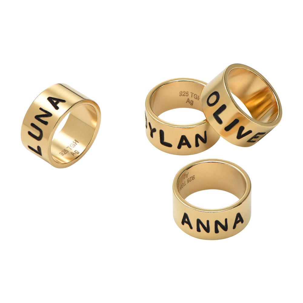 Personalisiertes Bead aus Vermeil Gold für Lederarmband - 1
