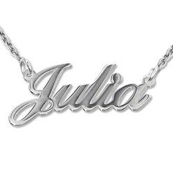 925 Silber Namenskette in Druckschrift- Klassik Produktfoto