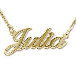 Vergoldete 925 Silber Namenskette in Druckschrift- Klassik Produktfoto
