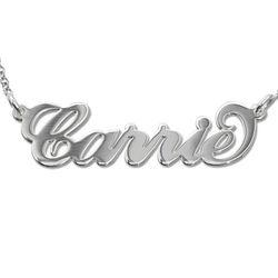 925 Silber Carrie Namenskette Produktfoto