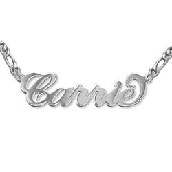 Doppelstarke 925 Silber Carrie Namenskette Produktfoto