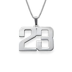 Sterling Silber Zahlen Halskette für Herren Produktfoto