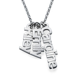 925er Silberkette mit senkrechten Namensanhängern Produktfoto