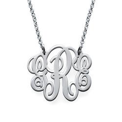 Monogrammkette aus Sterling Silber Produktfoto