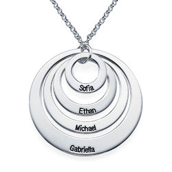 Kette mit vier Ringen und Gravur product photo