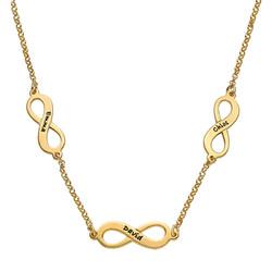 Mehrfach-Infinity-Halskette - 18k vergoldet Produktfoto