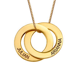Kette mit zwei russischen Ringen aus Gold-Vermeil Produktfoto