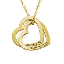 Verschlungene Herzkette mit Gold-Vermeil product photo