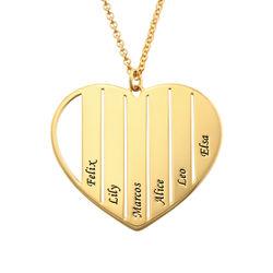 Herzkette für Mama mit Vergoldung Produktfoto