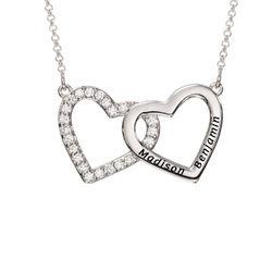 Herzkette aus Sterlingsilber Produktfoto
