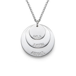 925er Silber Mutterkette mit Kindernamen Produktfoto